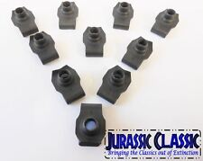 46-80 Chevy AMC 10pk 3/8-16 Extruded Fender U-Nuts Clips Hood Body Trunk Console