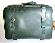 Vintage Louis VUITTON LV Green Taiga Leather Luggage Duffel Bag