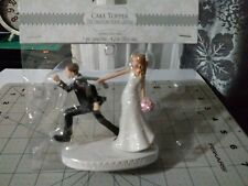 Wedding Cake Topper Bride and Groom Figurines Funny Runaway Decorations