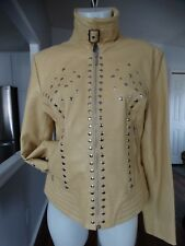 bod & christensen YELLOW LEATHER JACKET WITH STUDS 12