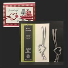 Border cutting dies Heart Swoosh metal die Poppystamps 1359 wedding,Valentine's