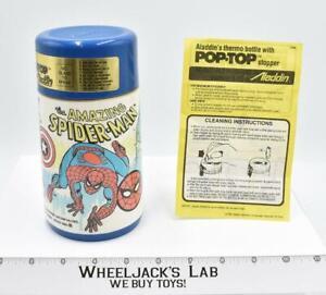 Hulk Spiderman Captain America Pop-Top Thermos Bottle 1983 Aladdin