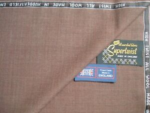100% PURE NEW WOOL HIGH TWIST SUITING FABRIC MADE IN HUDDERSFIELD ENGLAND= 3.44m