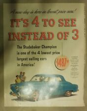 Studebaker Car Ad: Announcing New 1950 Studebaker ! Size:11 x 15 Inches