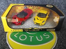 Saico Lotus Elise x2 Limited Edition Twin Pack Mint Boxed 1:28 1/28 Red Yellow