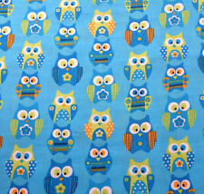 1 yard Springs Stacked Owls Fabric