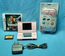 Nintendo DS lite console pink + 2 games + adapter + carrying bag