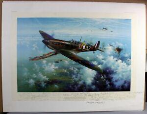 Simon Atack August Victory WW2 Battle of Britain PILOTS multi-signed LTD print