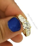 10K Gold Ladies Ring 1/2CT Solitaire Engagement Real Yellow Gold  Size 8 Women