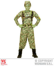 Boys Camo Soldier Fancy Dress Costume Kids Childs Military Army Outfit 11-13 Yrs