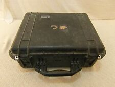 "Military Pelican 1550 Black 20""X 8""X 15"" Locking Clasps Carry Handle Hard Case"