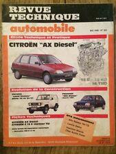 Revue Technique Automobile CITROEN AX Diesel 14D - 14RD - 14TRD
