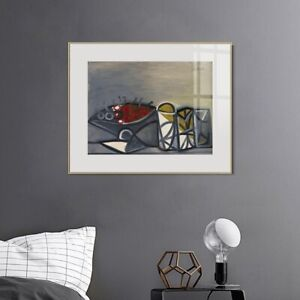 Framed Canvas Art Series#44 by Pablo Picasso Wall Art Home Office Decorations