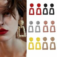 1 Pair Glitter Geometric Dangle Big Drop Earrings Women Statement Jewelry Gift