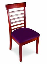 Stretchable Seat Covers Cover Protector Dining Chair Replacement S / 2  Burgundy