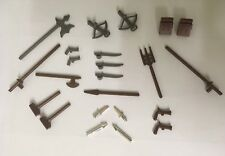 Vintage LEGO Castle Knight Weapons,guns, axe,swords, Accessories Lot