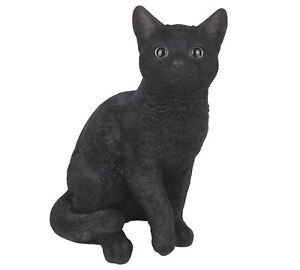 """Black Cat - Collectible Statue Life Size 12""""H New"""