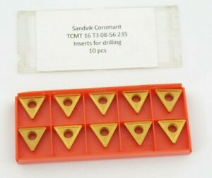 10 x Sandvik TCMT 16 T3 08-56 235 Wendeschneidplatten zum Bohren