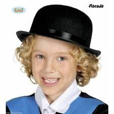 Sombreros, gorros y cascos color principal negro de fieltro para disfraces y ropa de época