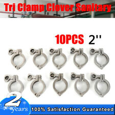 2 Tri Clamp Clover Sanitary Fits 64mm Od Ferrule 10pack Stainless Steel 304 Us