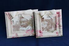 "D.L.Rhein Vintage Fabric-Covered 5X7 Photo Frame in ""Flower & Bow"" Design"