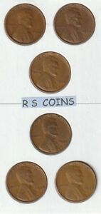 1934  to  1958 PDS  /  FINE  to  VF -   71  COIN  COMPLETE  LINCOLN  CENT  SET