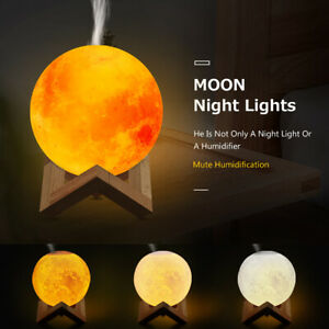 Purifier Mist Maker Aromatherapy Diffuser 880mL 3D Moon Lamp Aroma Humidifier