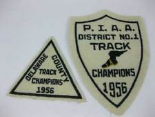 Vintage 1956 Delaware County PIAA District No. 1 Track Champions Patches (2)RARE