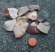 Heat treated Tennessee Flint Knapping arrowheads points spalls