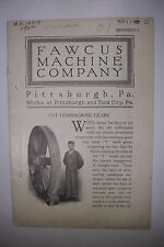 1922 Trade Catalog FAWCUS MACHINE COMPANY Pittsburgh & Ford City PA GEARS