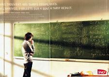 Publicité Advertising 018  2009  SNCF train   tarif réduit ( 2 pubs)