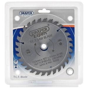 Draper Expert Circular Saw Blade 150mm 20mm Bore 30T 13mm 16mm Rings TCT 09464