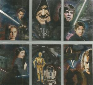 Star Wars Galaxy 4 - Set of 6 Etched Foil Puzzle Chase Cards #1-6