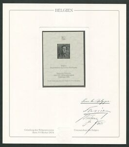 BELGIUM No. 1 OFFICIAL REPRINT UPU CONGRESS 1984 DELEGATES GIFT !! RARE !!