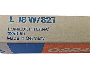 2 x OSRAM Leuchtstoffröhre L 18W 827 LUMILUX INTERNA 1350lm G13 T8 (Doppelpack)