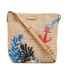 Vera Bradley Women's Straw Design Coral Crossbody Bag
