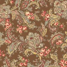 Roses & Chocolate II - Roses in Paisley - Walnut Brown by Moda Classic