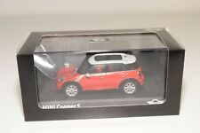 * SCHUCO NEW MINI COOPER S RED WITH WHITE ROOF MINT DEALER BOXED