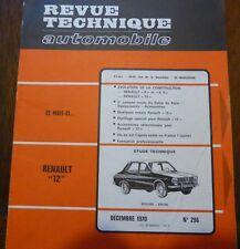 Neuve de stock ! Revue technique RENAULT 12 RTA N° 296 1970 R8 R8 S R10
