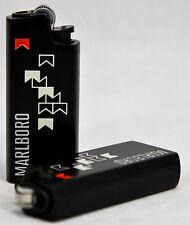 Marlboro Mini BIC Feuerzeug in Cover / Metallhülle schwarz