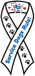 """Service Dogs Rule!"" Car Ribbon Magnet QUALITY"