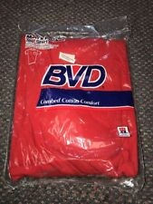 1988 BVD Vintage Pocket Tee Shirt Red Size XL NOS MIP USA