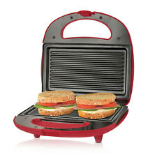 Premium Non-Stick 2-Slice Sandwich Maker Grill Plates for multi-function Red