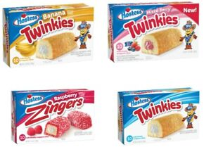 Hostess American Cake Snacks Twinkies in 4 Flavours box of 10