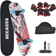 31''x 8'' Complete Standard Skate Board with Protective Clothing for Kids Teens