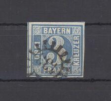 Bayern 3 Kreuzer Freimarke Mühlradstempel Nr. 433 (H208)