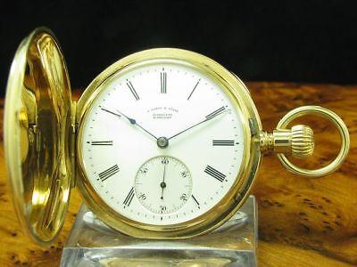 A.Lange & Söhne 18kt 750 Oro Savonette Reloj de Bolsillo Calidad 1A / Kaliber 43