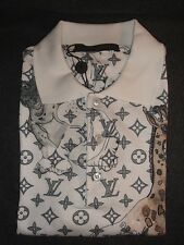 Louis Vuitton NOT TO DOT MONOGRAM CHAPMAN ANIMALS Men's Polo Shirt. S.