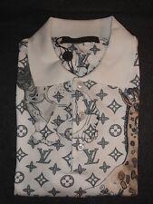 Louis Vuitton NOT TO DOT MONOGRAM CHAPMAN ANIMALS Men's Polo Shirt. S.