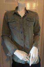 Topshop Womens Vintage Style Denim Shirt UK 10